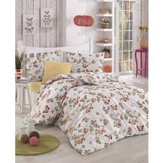Комплект постельного белья Altinbasak 1,5 сп, ранфорс, Butterfle абрикосовый (298/39/CHAR001)