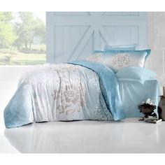 Комплект постельного белья Altinbasak 2-х сп, сатин, Ilma голубой (256/25/CHAR003)