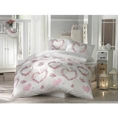 Комплект постельного белья Altinbasak Евро, ранфорс, Huma розовый (297/20/CHAR002)