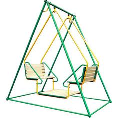 Качели Лидер 2-02 зелёно/жёлтый (0834)