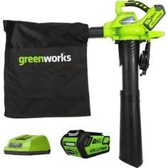 Садовый пылесос-воздуходувка GreenWorks GD40BV (24227UB)