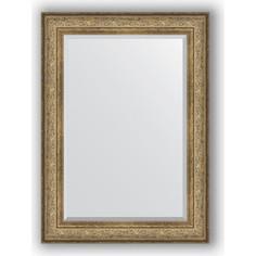 Зеркало с фацетом в багетной раме поворотное Evoform Exclusive 80x110 см, виньетка античная бронза 109 мм (BY 3477)