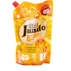 Гель для мытья посуды и детских принадлежностей Jundo Juicy Lemon, с гиалуроновой кислотой, концентрат, запаска 800 мл