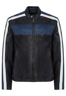 Кожаная куртка с отделкой Urban Fashion for men