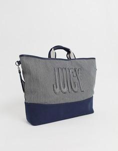 Сумка-тоут с логотипом Juicy Couture - Темно-синий