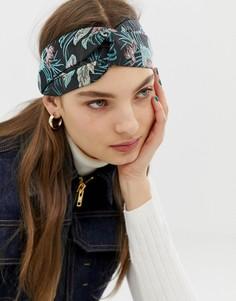 Повязка на голову с жаккардовым цветочным принтом ASOS DESIGN - Мульти