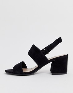 Черные замшевые босоножки на каблуке ALDO Arievia - Черный