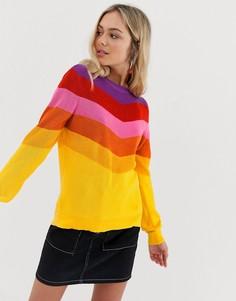Джемпер в разноцветную полоску QED London - Мульти