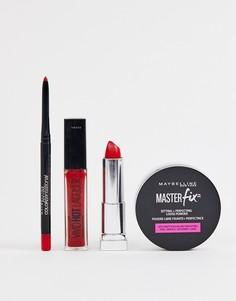 Набор средств для макияжа губ Maybelline Killer Red - Скидка 11 - Красный