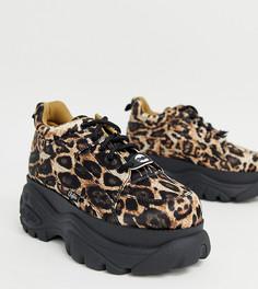 Кожаные кроссовки на платформе с леопардовым принтом Buffalo London - Мульти