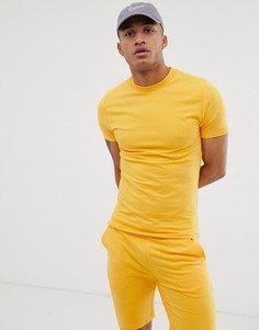 Желтый спортивный свитшот / шорты скинни ASOS DESIGN - Желтый