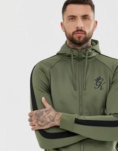 Спортивная куртка из политрикотажа на молнии Gym King - Зеленый