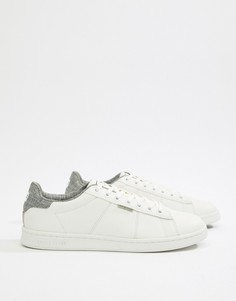 Белые кроссовки с лентой на заднике Jack & Jones - Белый