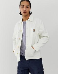 Вощеная куртка из 100% органического хлопка Carhartt WIP Michigan - Белый