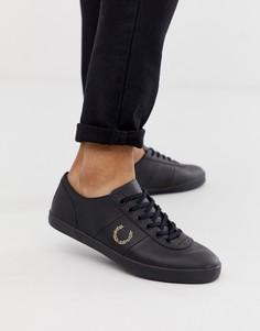 Черные кожаные кроссовки Fred Perry x Miles Kane - Черный