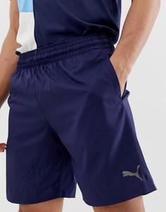 Синие шорты длиной 9 дюймов с логотипом Puma - Черный