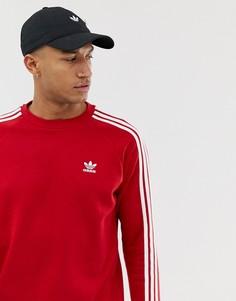 Красный свитшот с 3 полосками adidas Originals DV1553 - Красный