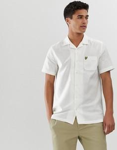 Белая рубашка с короткими рукавами и отложным воротником Lyle & Scott - Белый