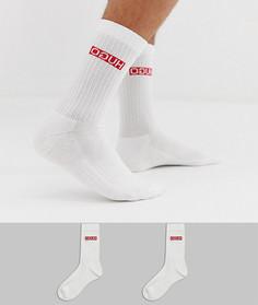 Набор из 2 пар белых носков с логотипом HUGO - Белый