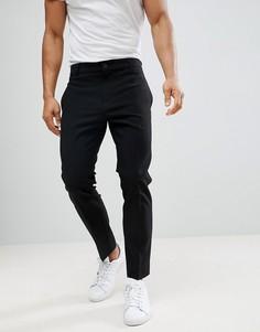 Черные брюки Weekday - Черный