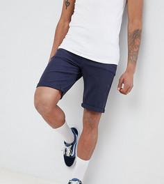 Темно-синие джинсовые шорты узкого кроя ASOS DESIGN Tall - Темно-синий