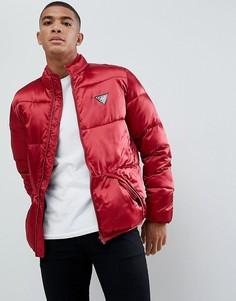 Атласная дутая куртка Love Moschino - Красный