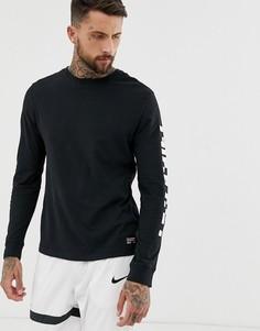 Черная футболка с длинными рукавами Nike FC Dry - Черный