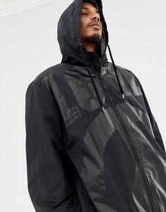 Куртка с капюшоном, молнией и принтом Love Moschino - Черный