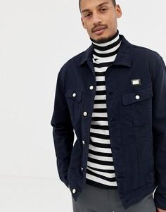 Темно-синяя джинсовая куртка Love Moschino - Темно-синий
