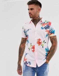 Трикотажная рубашка с цветочным принтом Ringspun - Черный