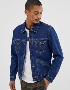 Выбеленная джинсовая куртка Wrangler 124mj - Синий
