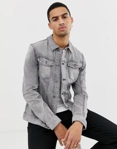Серая выбеленная джинсовая куртка Tom Tailor - Серый