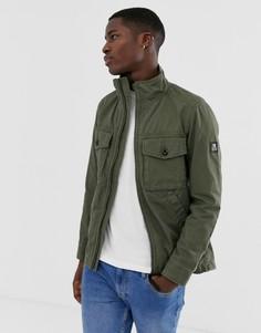 Зеленая выбеленная куртка в стиле милитари Tom Tailor - Зеленый
