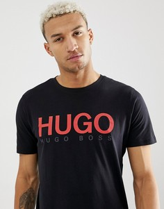 Черная футболка с логотипом HUGO Dolive-U3 - Черный