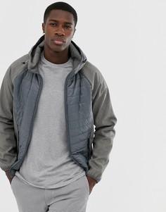 Серая стеганая куртка Esprit - Серый