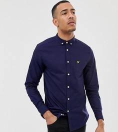 Темно-синяя оксфордская рубашка с длинными рукавами Lyle & Scott - Темно-синий