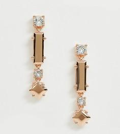 Броские серьги-подвески цвета розового золота Ted Baker - Золотой