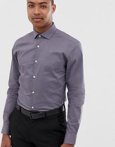 Приталенная рубашка с длинными рукавами Moss London - Серый