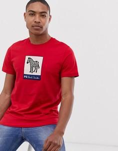Красная узкая футболка с принтом PS Paul Smith - Красный