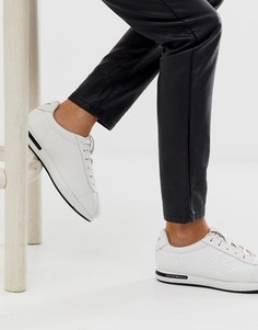 Классические кожаные кроссовки с логотипом Emporio Armani - Белый