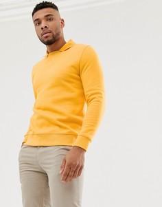 Желтый свитшот с воротником поло ASOS DESIGN - Желтый