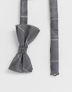 Серый галстук-бабочка в клетку Jack & Jones Premium - Серый