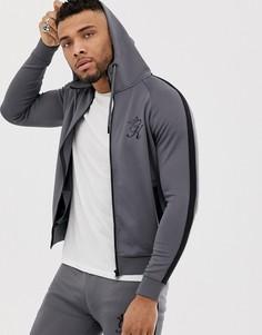 Спортивная куртка из политрикотажа на молнии Gym King - Серый