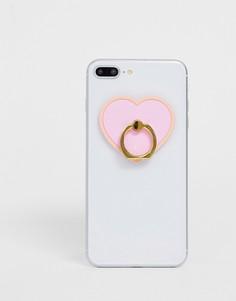 Подставка-кольцо для телефона с сердцем Typo - Мульти