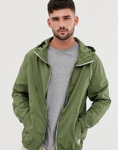 Зеленая ветровка с капюшоном Bershka - Зеленый