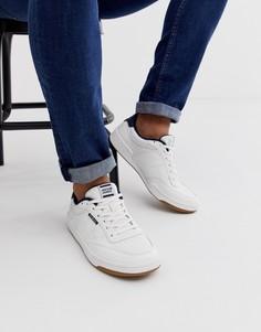Кожаные кроссовки с контрастной вставкой на пятке Jack & Jones - Белый