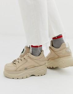 Светло-бежевые кроссовки на толстой подошве Buffalo Classic - Светло-бежевый