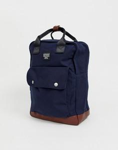 Темно-синий рюкзак в строгом стиле с ручкой Jack & Jones - Темно-синий
