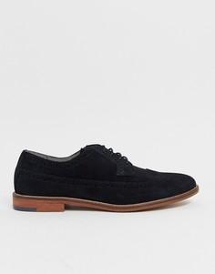 Черные замшевые туфли Burton Menswear - Черный