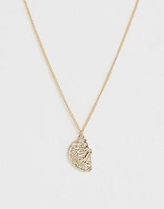 Золотистое ожерелье с подвеской ASOS DESIGN - Золотой